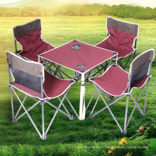 Folding Tables and Chairs Suit Set For Picnic, 5 Pieces Pack Outdoor Foldable Tables And Chairs