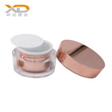 HOT selling acrylic lotion bottle white cosmetic pump plastic bottle rose gold  cosmetic jar