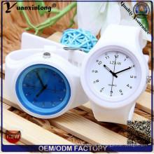 Yxl-995 kreative Süßigkeit-Farben-Silikon-Gummi-Gelee-Gel-Quarz-Uhren Frauen-nette analoge Sport-Armbanduhr