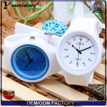 Yxl-995 Creative Candy Color Silicone Rubber Jelly Gel Quartz Montres Femme Cute Analog Sports Wrist Watch