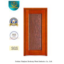 Porte en acier de sécurité de couleur d'or pour l'entrée (b-8001)