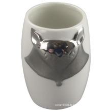 La tasse en céramique de placage Fox pour la tasse personnelle, la décoration intérieure