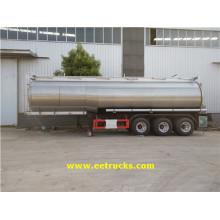 3 ejes 34000L Peróxido de hidrógeno tanque de los tanques