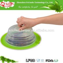 Qualitäts-Großhandelsfabrik-direkter Preis-Nahrungsmittelgrad-Saug-Silikon-Platten-Deckel-Deckel