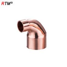 L 17 4 11 tubo de conexión de refrigeración accesorios de cobre rojo codo de montaje de tubería de gas de acoplamiento recto