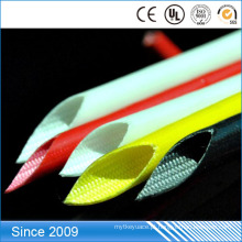 Tubulação resistente ao calor trançada da fibra de vidro revestida aprovada da resina de silicone do alcance de RoHS
