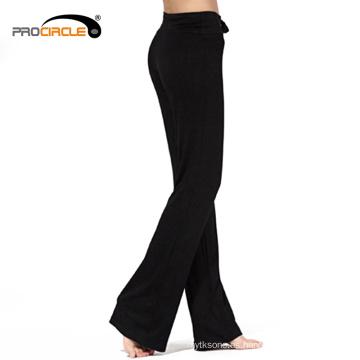 Pantalones largos de ejercicio flexible Yoga
