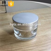 Frasco de 50ml de vidro fosco com tampa para cuidados com a pele