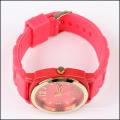 Correa de silicona de acero inoxidable trasero Japón movimiento reloj de cuarzo sr626sw para las mujeres