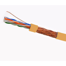 SFTP CAT6 LSZH Câble Fluke Testé Soild Nare Copper Orange