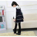 Heißes verkaufendes Kind beiläufiges Winter kleidet Mädchen woolen Kleid