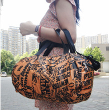 Printing Trendy Travel Gym Bags for Women