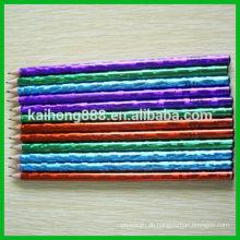 Ungiftige Runde hölzerne Farbe Bleistift mit Radiergummi & schärfen