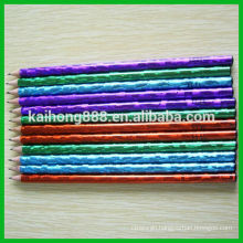 Non Toxic Round Wooden Color Pencil with Eraser & Sharpen