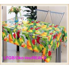 Praktische Mode PVC gedruckt transparente Tischdecke für Zuhause
