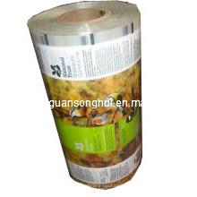 Film en rouleau stratifié en plastique pour l'emballage automatique