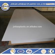 china fábrica de alta qualidade branco rígido rígido pvc folha de plástico