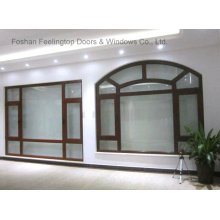 Fenêtre d'inclinaison et de rotation en aluminium de bâti de conception d'efficacité énergétique (FT-W80)