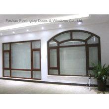 Энергия Конструкция эффективная окно наклона и поворота casement алюминиевое (фут-W80)