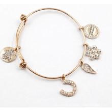 Vergoldung Edelstahl Armband mit Charms
