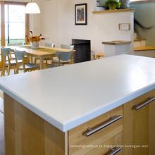 atacado bem polido bela pedra de quartzo cozinha ilha top