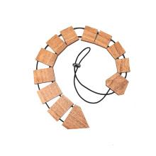 Cravate en bois gravée de Sapelli Men de logo fait sur commande