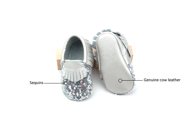 Sequin Baby Moccasins