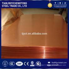 Feuille de cuivre plat C1200 C1220 C1100