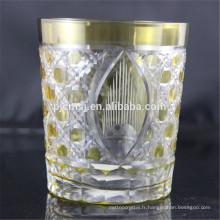 verre de coupe décoratif jaune pour boire