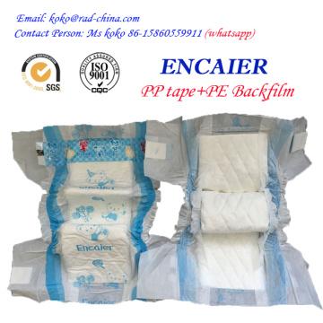 2016 Venta caliente barato precio de fábrica alta absorción desechables Encaier bebé pañal