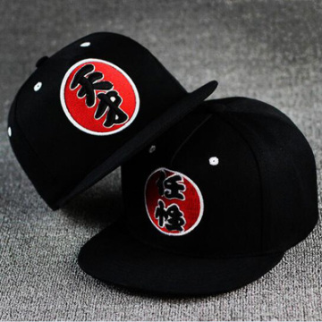 Custom 6 Panel 3d Embrodiery Black Hats Hip Hop Snapback Hats