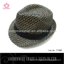 Promotional Paper Straw Hat striped wholesale golf hats