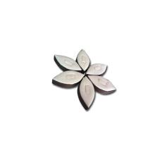 Conception exclusive de support de présentoir de bijoux en cuir blanc (ER-F2)