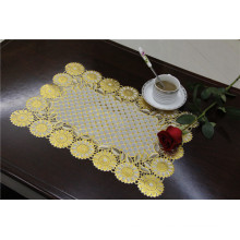 Café popular / casamento / partido do uso de Tablemat do ouro do laço do PVC de 30 * 46cm