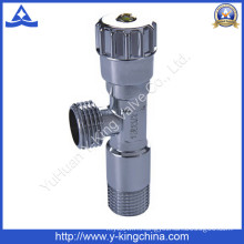 Brass Polished Angle Valve with Plastic Handle (YD-5013)