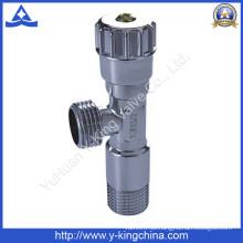 Verchromtes Messing-Winkelventil mit Kunststoffgriff (YD-5013)