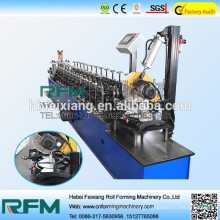 Metal channel cold roll forming machine