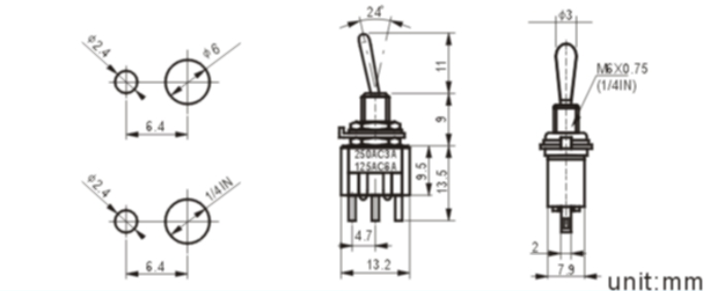 MTS-103-1 toggle switch