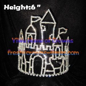 6inch Castle Princess Crystal Crowns And Tiaras