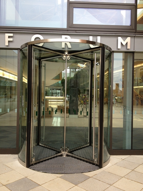 Four-wing Automatic Revolving Door with fire alarm