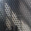 Edelstahl-Loch mit perforiertem Metallgeflecht