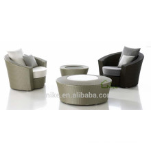 SL-(11) outdoor furniture rattan low back round sofa chair