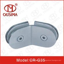135 grados de doble cara ducha de vidrio de montaje de clips (CR-G35)