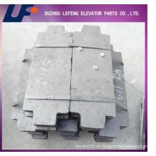 Elevador contrapeso de hormigón Elevador Cemento Contrapeso Bloque, elevación Balance Bloque