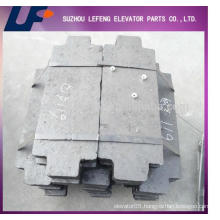 Elevator concrete counterweight Elevator Cement Counterweight Block, lift Balance Block
