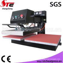 Estações de duplo CE sublimação tremendo cabeça calças máquina de impressão de calor