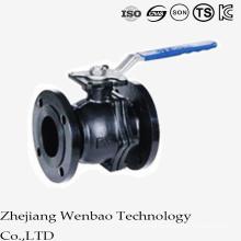 Válvula de bola flotante manual de la brida del acero de ANSI con la plataforma