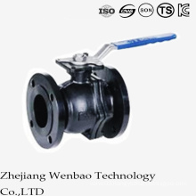 ANSI Carbon Steel Flange Manual Floating Ball Valve with Platform