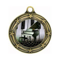 Médaille d'argent de piano pour la collection d'instrument de musique