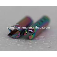 2016 Модная форма разноцветного украшения обуви металлический штемпель шнурка металлический конец шнура